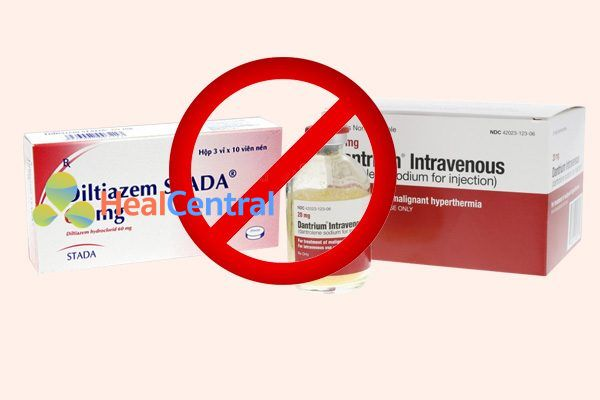 Tương tác thuốc diltiazem và dantrolene