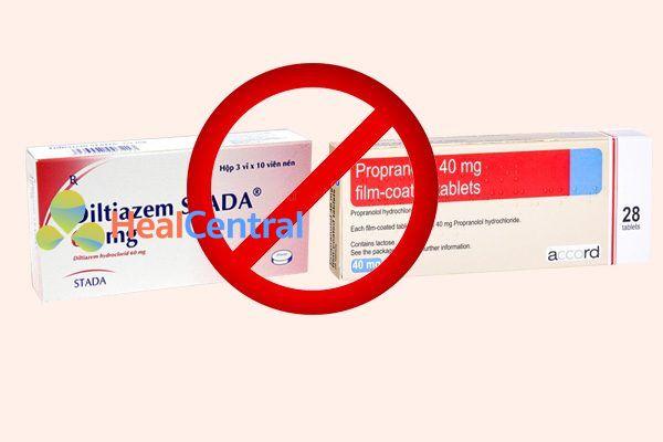 Tương tác thuốc diltiazem và propranolol