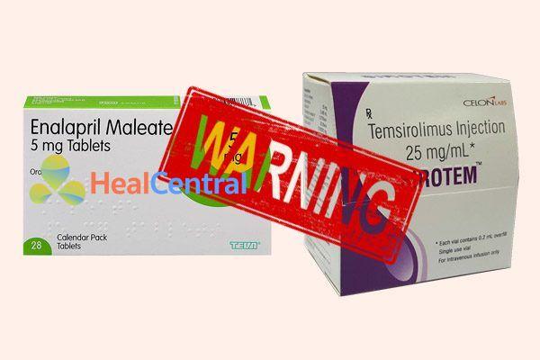 Tương tác thuốc enalapril và temsirolimus