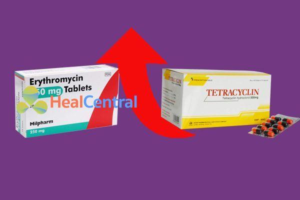 Tương tác thuốc Erythromycin và Tetracylin