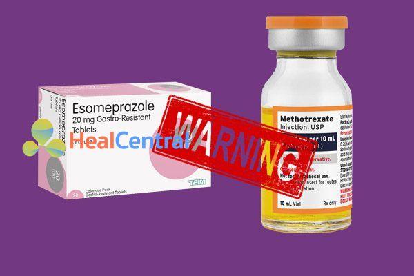 Tương tác thuốc esomeprazol và methotrxate