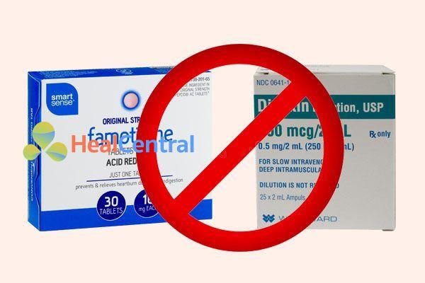 Tương tác thuốc famtidne và digoxin