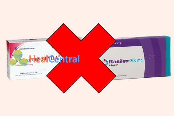 Tương tác thuốc irbesartan và rasilez (aliskiren)
