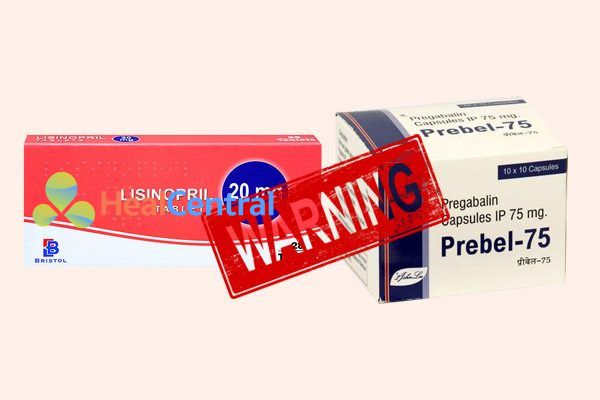 Tương tác thuốc lisinopril và pregabalin