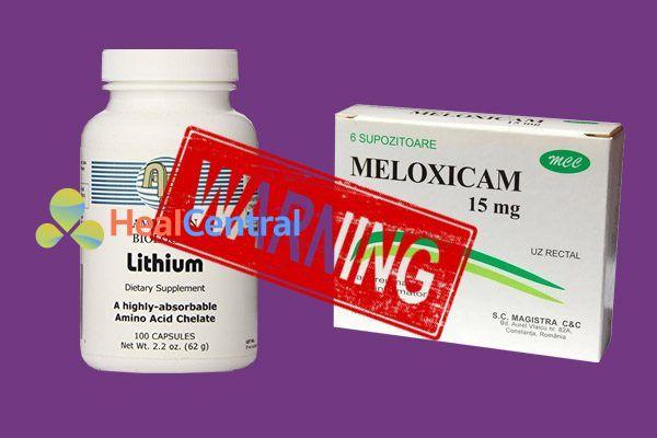 Tương tác thuốc Meloxicam và Lithium