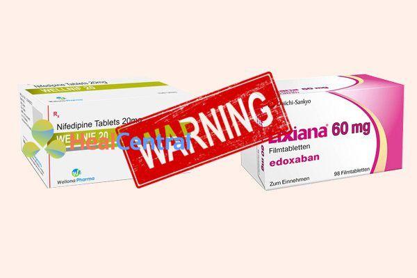 Tương tác thuốc nifedipine và edoxapan