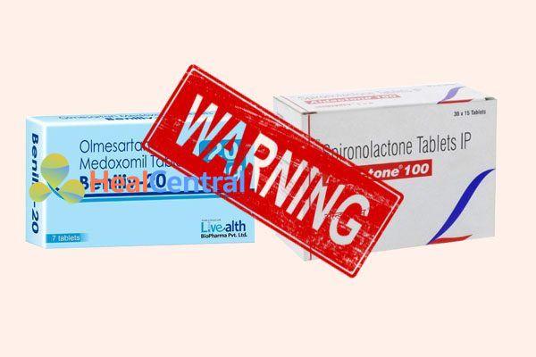 Tương tác thuốc olmesartan và spironolacton