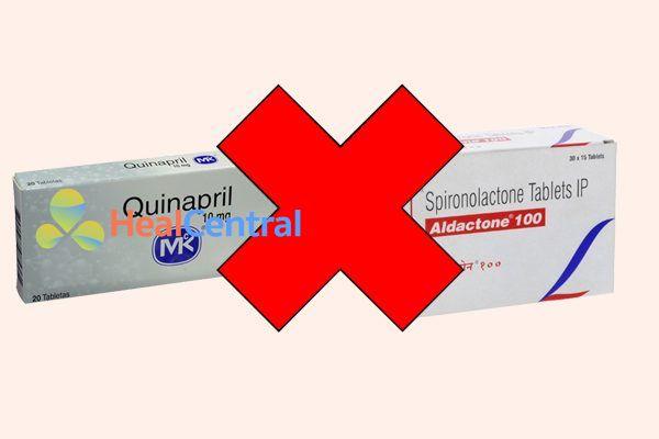 Tương tác thuốc quinapril và spironolacton