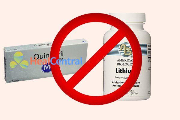 Tương tác thuốc quinipril và lithium