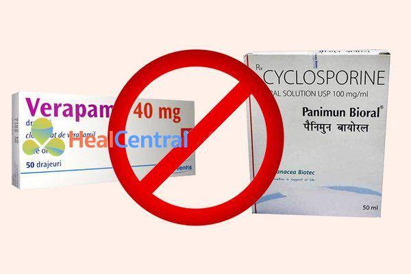 Tương tác thuốc verapam và cyclosporine