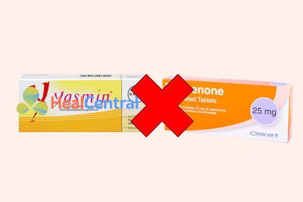 Tương tác thuốc yasmin(drospirenone) và eplerenone