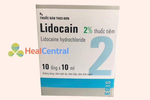 Hộp thuốc Lidocain