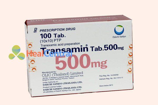 Hộp thuốc Transamin