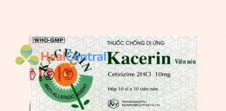 Hộp thuốc Kacerin