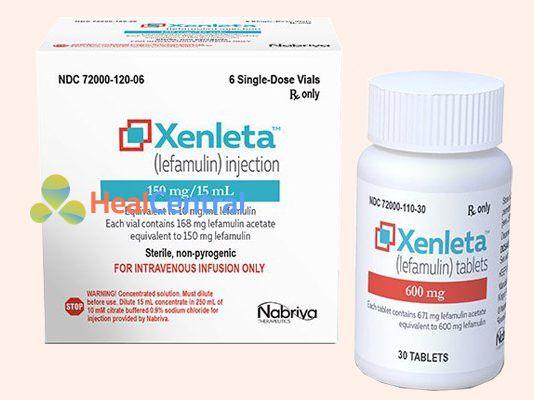 Thuốc Xenleta có hoạt chất chính là Lefamulin