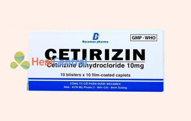 Hộp thuốc Cetirizin 10mg