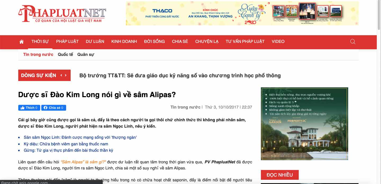 review Sâm Alipas Platinum