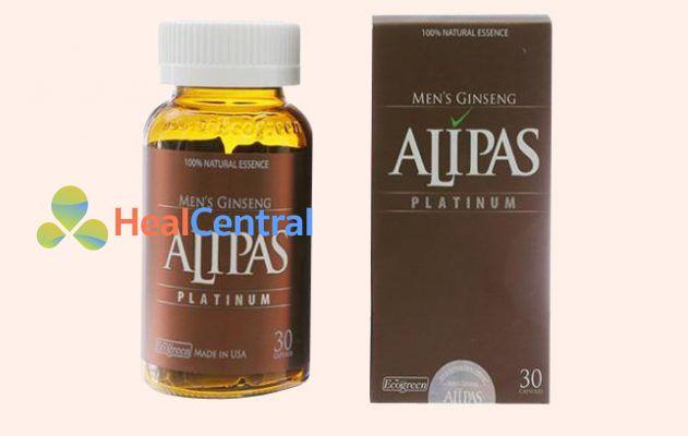 Hộp và lọ Sâm Alipas Platinum