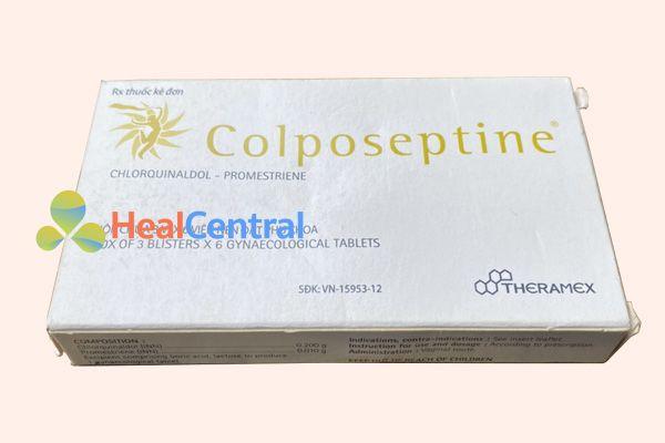 Hộp thuốc đặt âm đạo Colposeptine