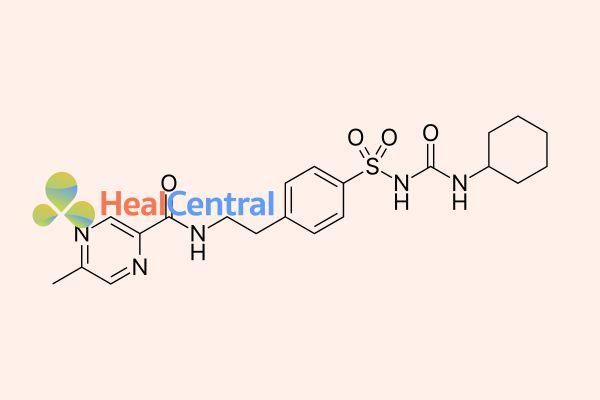 Công thức hóa học của Gliclazid