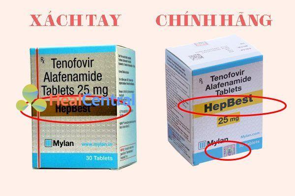 Thuốc Hepbest 25mg nhập khẩu và Hepbest 25mg xách tay có quá nhiều điểm khác nhau