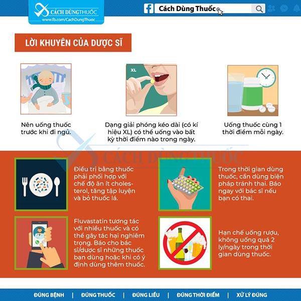 Hướng dẫn sử dụng thuốc fluvastatin 5
