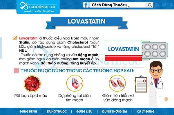 Cách sử dụng thuốc Lovastatin