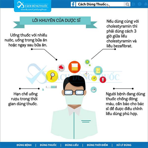 Hướng dẫn sử dụng thuốc bezafibrate 6