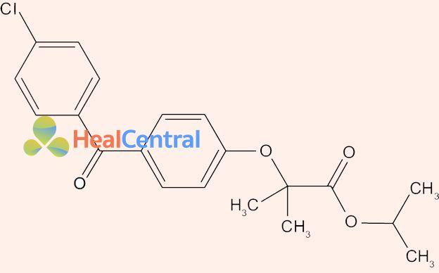 Cấu trúc hóa học của Fenofibrate