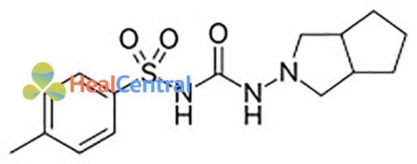 Cấu trúc hóa học của Gliclazide