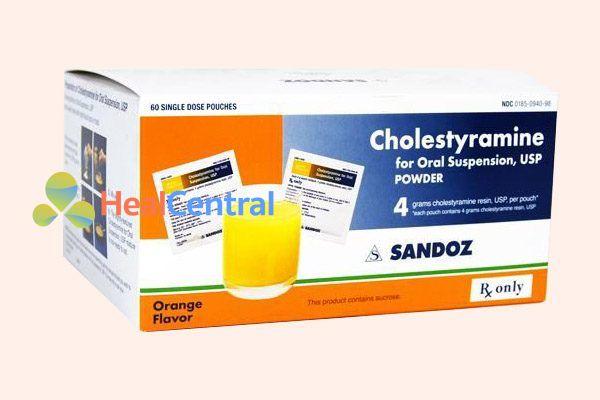 Thuốc Cholestyramine 4g