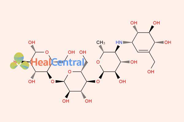 Công thức hóa học của  Acarbose