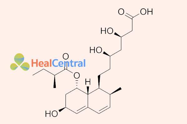 Ảnh: Cấu trúc hóa học của pravastatin.