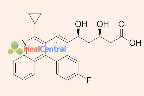 Ảnh: Cấu trúc hóa học của pitavastatin.