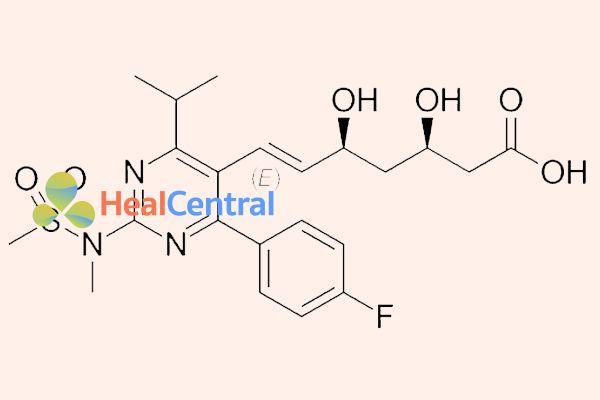 Ảnh: Cấu trúc hóa học của rosuvastatin.