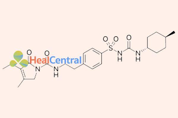 Công thức cấu tạo glibenclamid