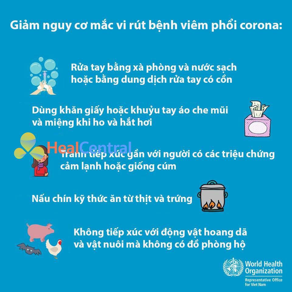 Lời khuyên của Tổ chức Y tế Thế giới (WHO) về virus hoàn toàn mới thuộc họ corona.