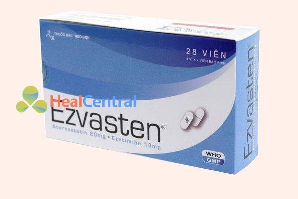 Thuốc Ezvasten là sự kết hợp của ezetimibe/atorvastatin