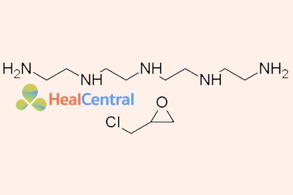 Hai thành phần cấu tạo nên 1 monomer của colestipol