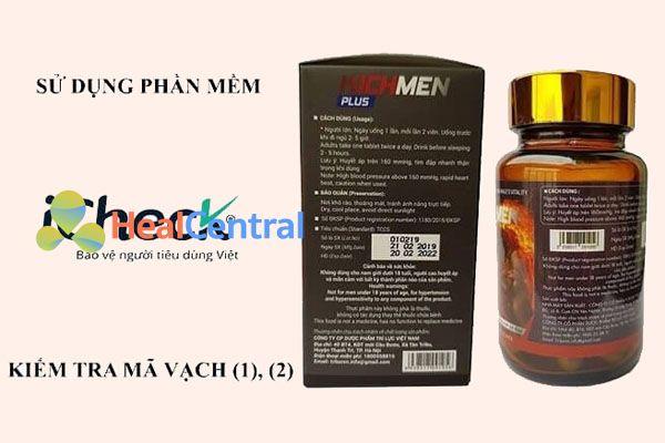 Check sản phẩm Viên uống Kichmen Plus