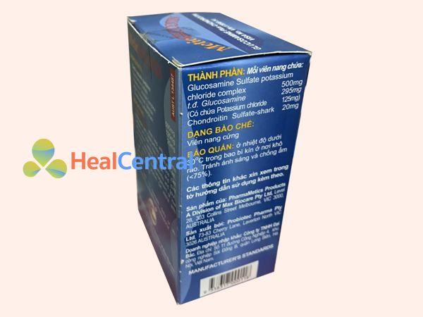 Metic glucotin chứa Glucosamin