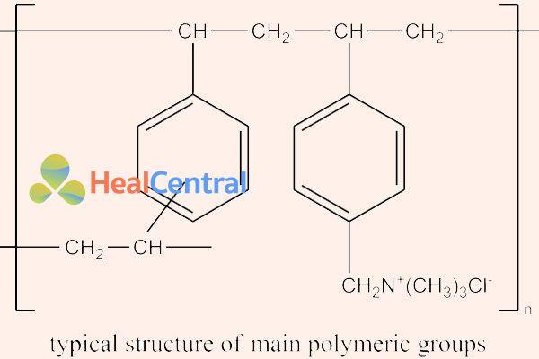 Cấu trúc hóa học một monomer của cholestyramine