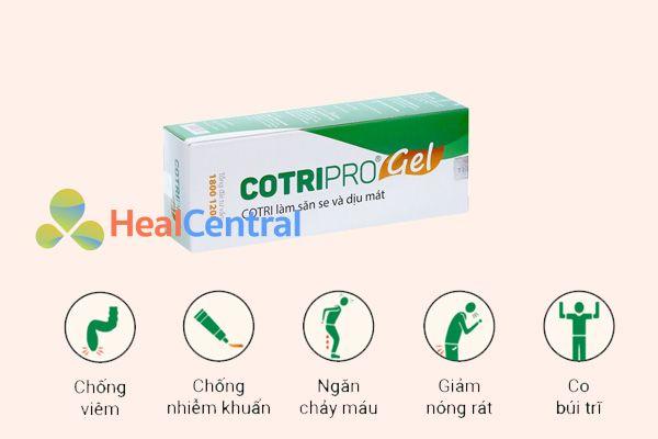 Tác dụng của Cotripro Gel