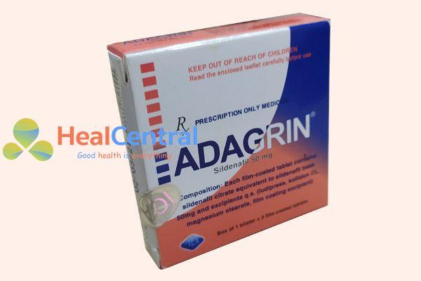 Hộp thuốc Adagrin 50mg có tem chống giả
