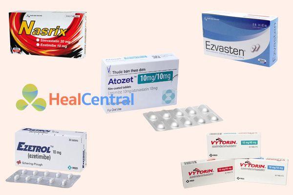 Các thuốc có chứa hoạt chất là Ezetimibe