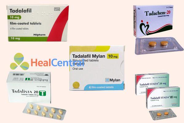 Các thuốc có chứa hoạt chất là Tadalafil