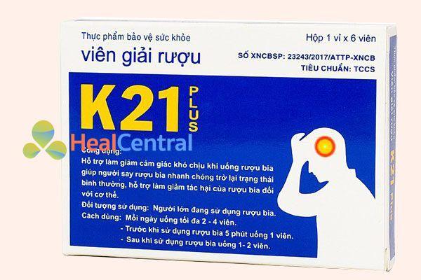 Viên giải rượu K21 giúp bạn nhanh chóng qua cơn say rượu