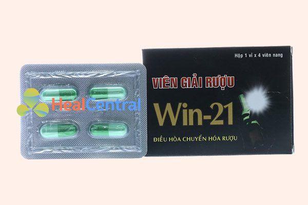 Viên giải rượu WIN 21 giúp bạn nhanh chóng đạt được tỉnh táo