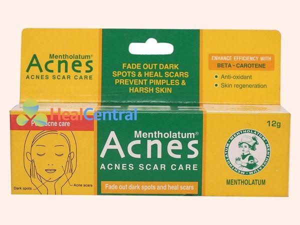 Kem trị sẹo Acnes Scar Care có thành phần Mentholatum