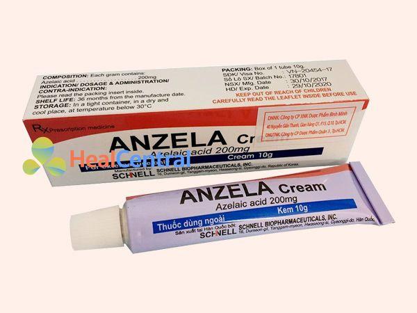 Thuốc Anzela Cream điều trị mụn tận gốc